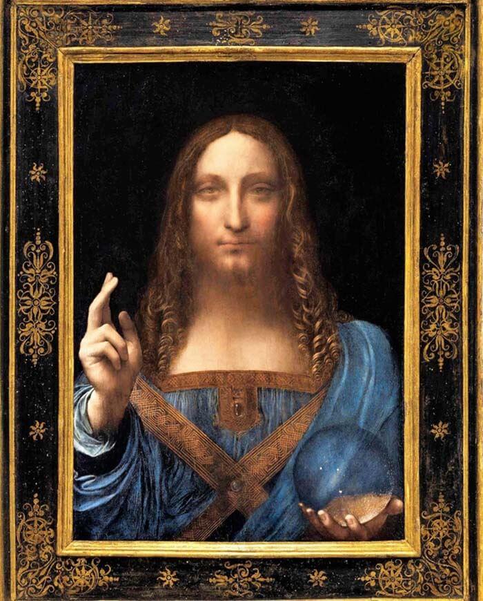 «Спаситель мира»Леонардо да Винчи.