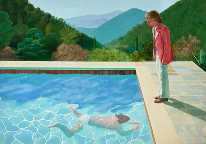 Картина британского художникаДэвида Хокни«Портрет художника (Бассейн с двумя фигурами)»