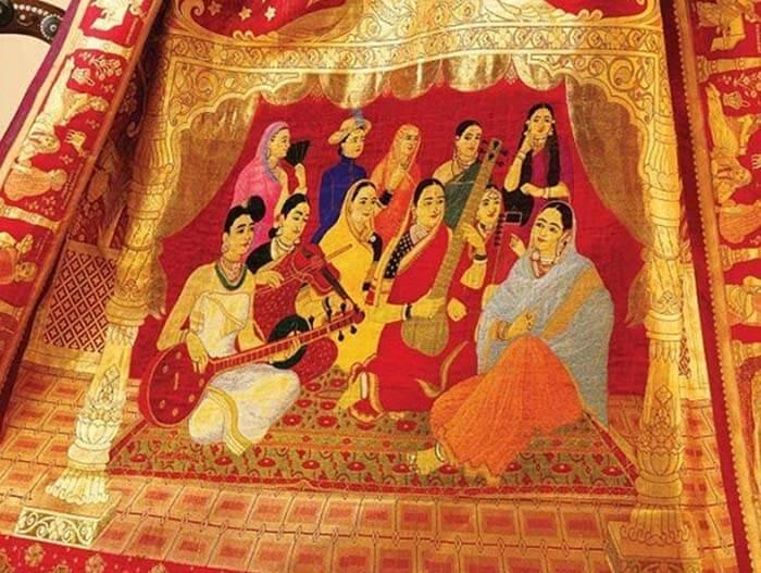 Chennai Silks презентовала самое дорогое индийское сари в мире, стоимостью $75 000.