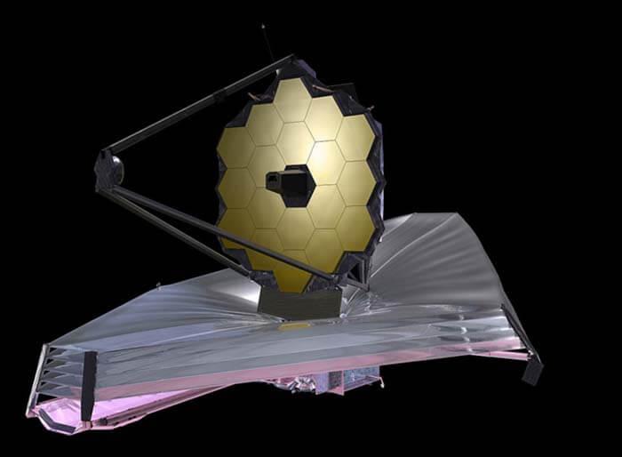 Внешний вид телескопа Джеймса Уэбба (иллюстрация). © NASA